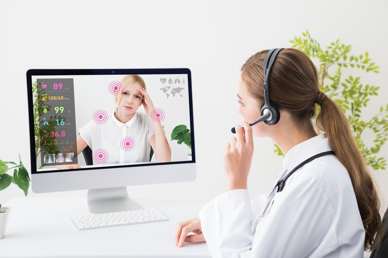 Remote medicine concept. Telemedicine.